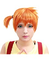 Halloween Misty Perruque Wig Anime Perruques Cosplay Court Orange Cheveux Hair Costume Accessoires