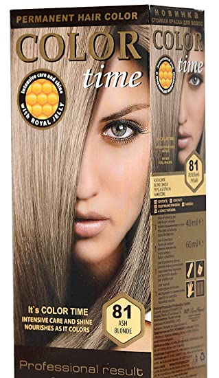 Color Time Haarfarbe Permanent Mit Gelée Royale 81 Aschblond