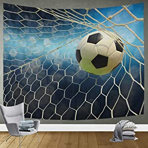 DOMIKING Tapestry Wall Hanging Room Decor - Soccer Ball Bedding Tapestry for Dorm Home 60x51in Wall Decor