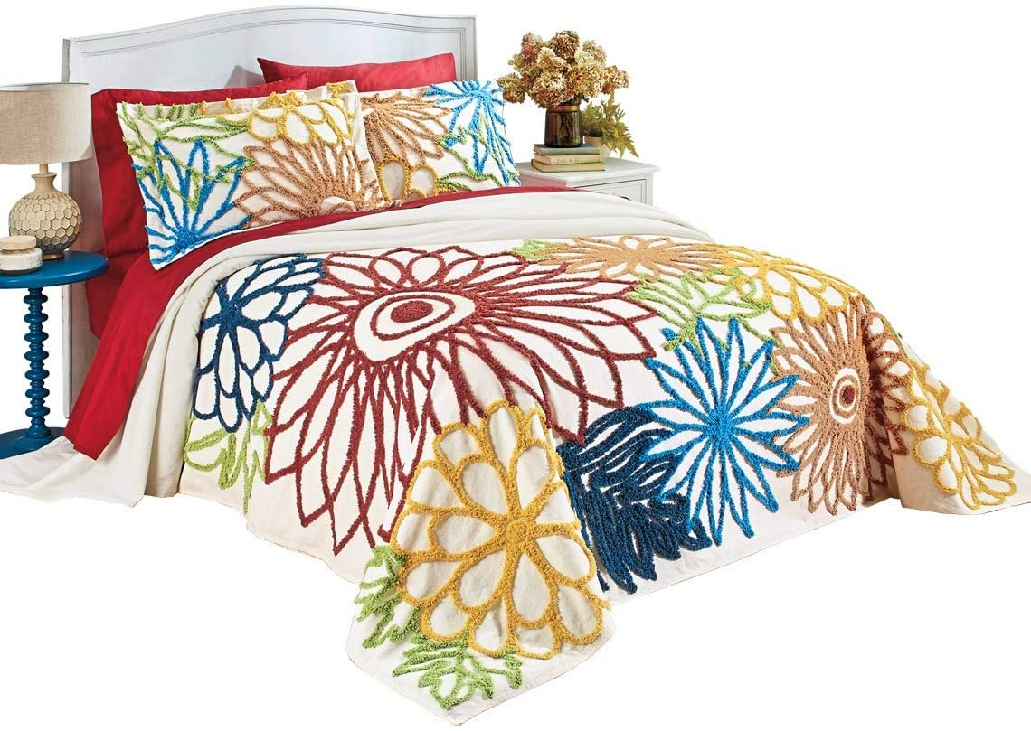Size Twin Twin Carol Wright Gifts 100/% Cotton Chenille Bedspread Size Twin