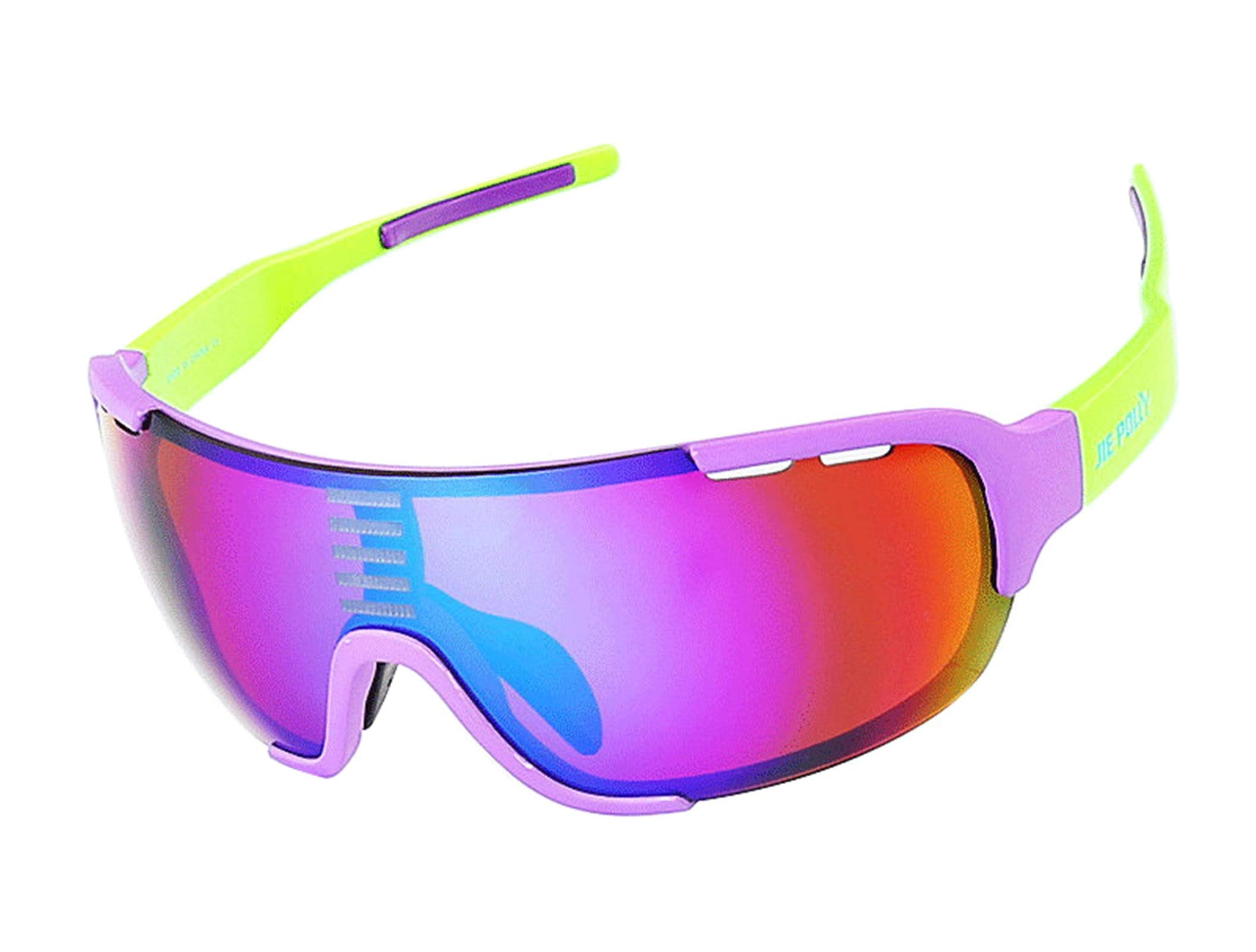 Adisaer Safety Protection Goggles Cycling Color Changing Sports Fishing Outdoor Hiking Goggles Purple Green for Adults
