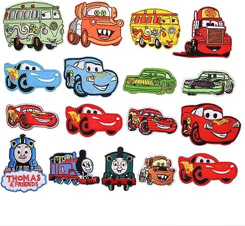 Oferta amazon: Mingjun - 17 parches para planchar o coser en autobuses, coches, camiones de fuego, coches, chaquetas, chaquetas, mochilas, bufandas