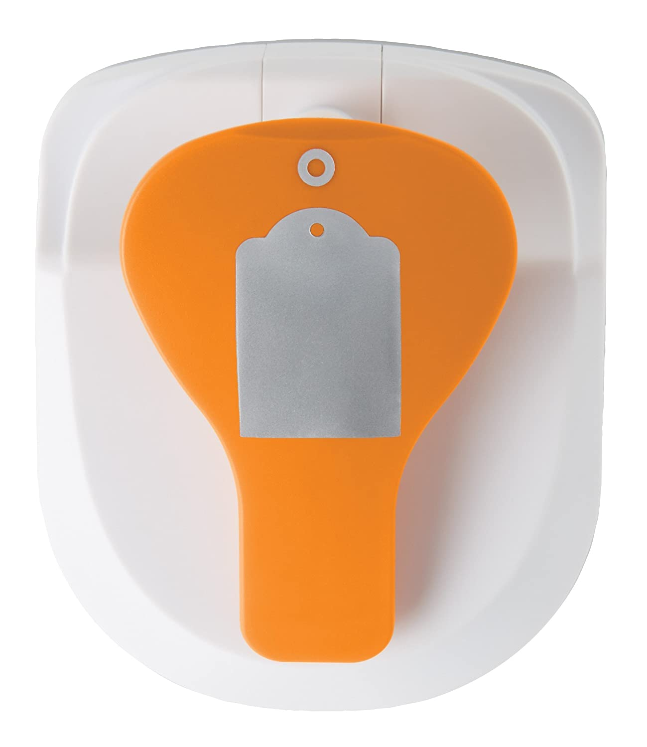 Fiskars 197500-1002 Tag Maker with Built-in Eyelet Setter, Standard, Orange/White