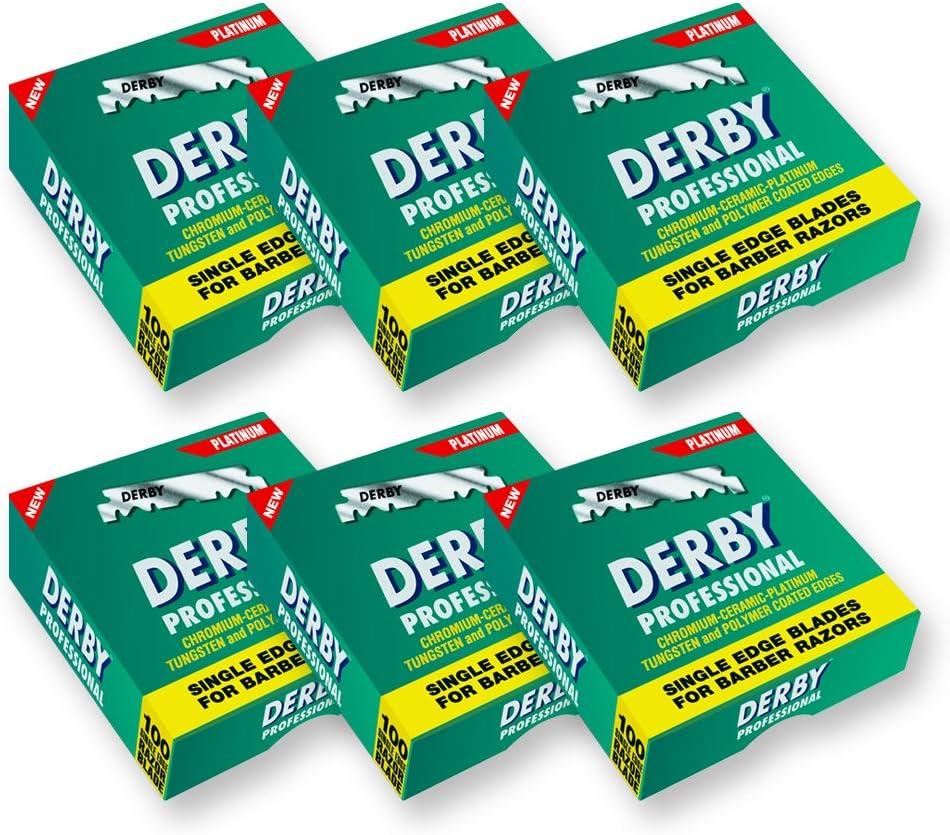 Derby - Cuchillas de afeitar profesionales precortadas (600 unidades)