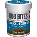 Fluval Bug Bites Tropical Fish Food, Small Granules for Small to Medium Sized Fish, 1.59 oz.,