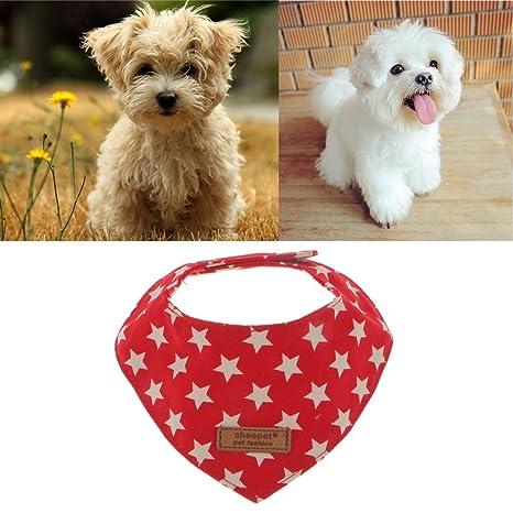 Baoblaze 2 Pcs Toallas de Saliva para Perros Gato Accesorios Algodón Diseñar de Moda