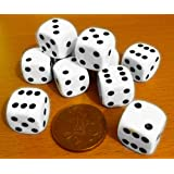 Dice, spot-pack of 10 x 16mm. diameter.00563