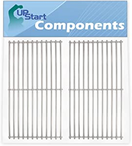 UpStart Components 2-Pack BBQ Grill Cooking Grates Replacement Parts for Kitchenaid 860-0003 - Compatible Barbeque Grid 18 3/4""