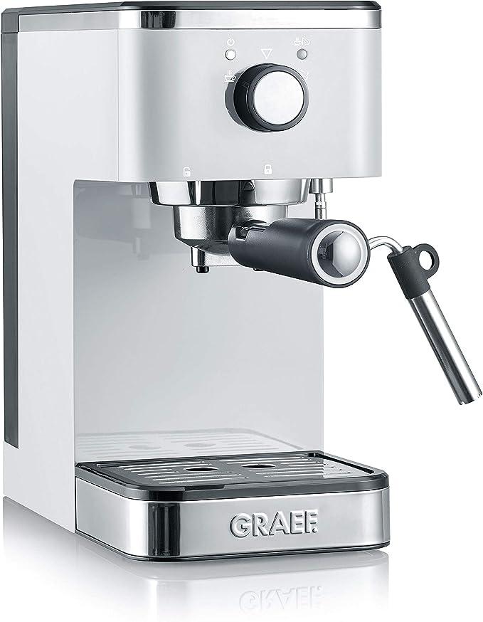 Graef ES401EU Salita 1400 - Cafetera italiana con portafiltro, color blanco: Amazon.es: Hogar