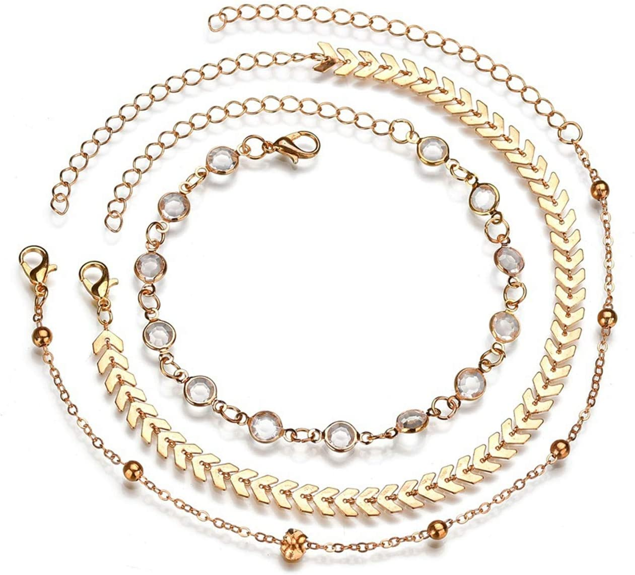Zeagro Bracelet de cheville pour femme