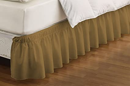 Easy Fit 11577QUEEN//KINGIV Wrap Around Solid Ruffled Queen//King Bed Skirt...
