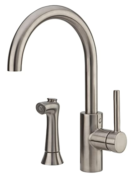Pfister Lf0294sls Solo 1 Handle Kitchen Faucet With Side Spray Stainless Steel 1 8 Gpm Amazon Com