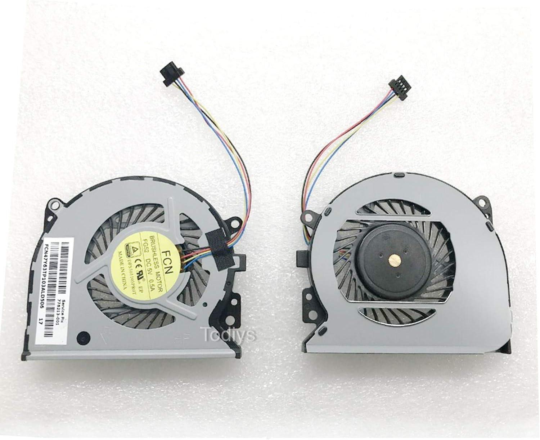 Todiys CPU Cooling Fan for HP Envy X360 15-U Pavilion 13-A Series 15-U011D 15-U010DX 15-U011DX 15-U110DX 15-U111DX 15-U437CL 15-U483CL 13-A012DX 13-A013CL 13-A091NR 13-A150NR 13-A317CL 776213-001