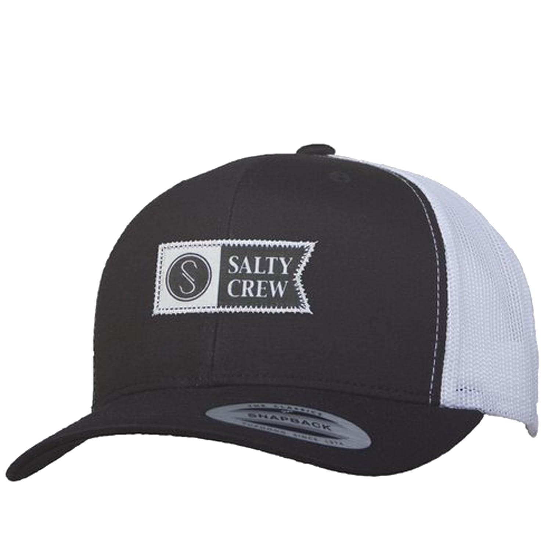 save off 59f53 252b2 Amazon.com  Salty Crew Men s Transom Retro Trucker Hat, Black White, One  Size  Clothing