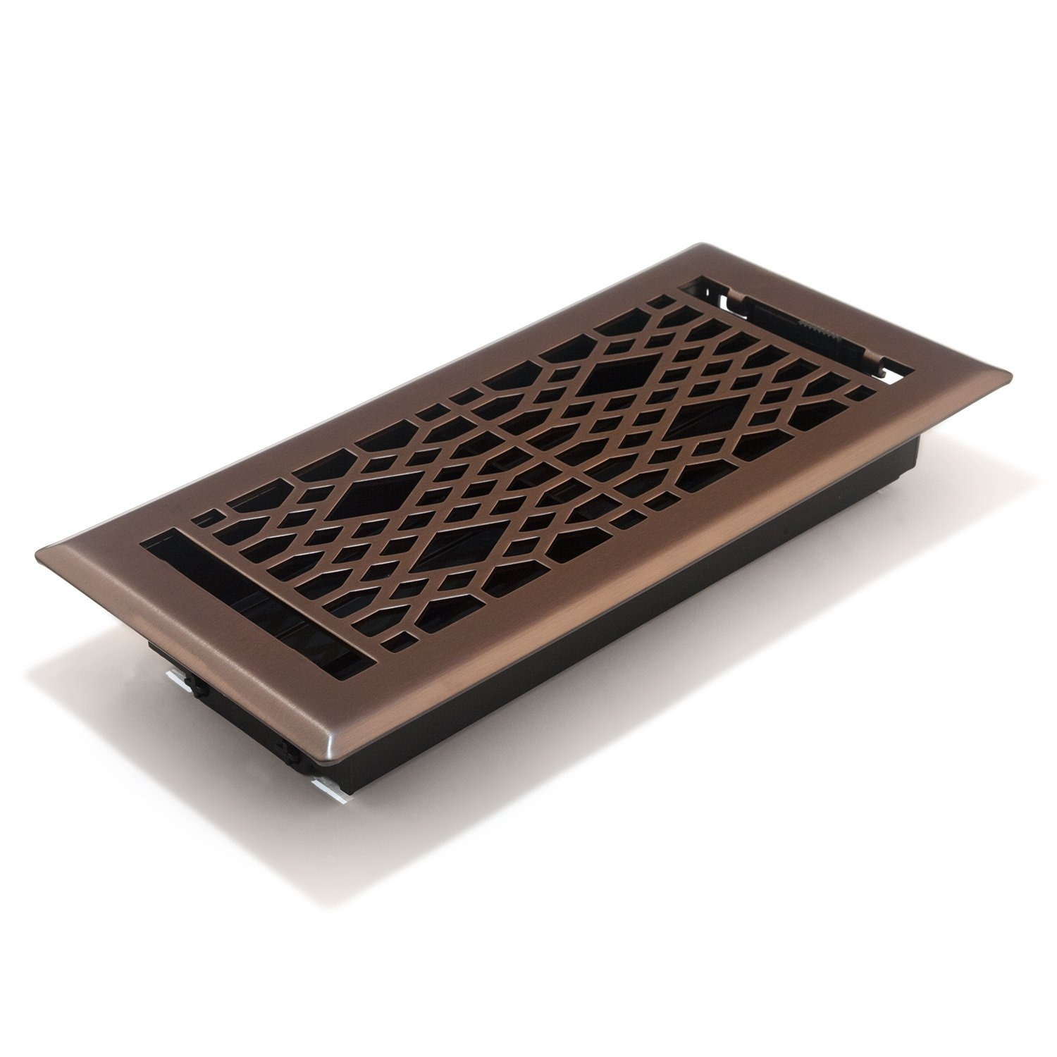 Accord AMFRLRBCA410 Cathedral Floor Register, 4-Inch x 10-Inch(Duct Opening Measurements), Light Oil-Rubbed Bronze