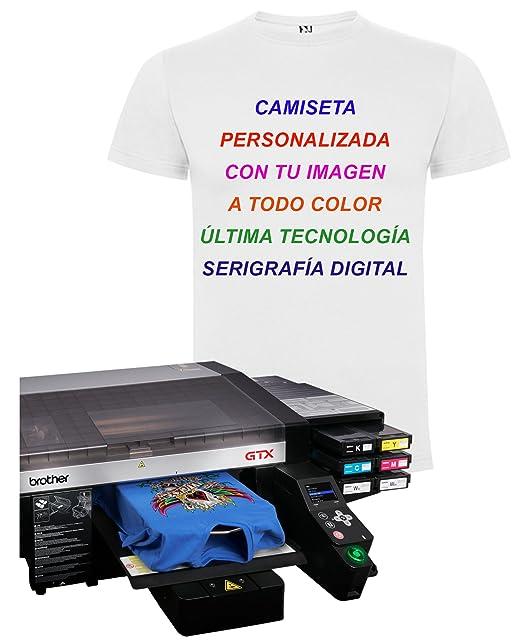 Estampa Camiseta Personalizada última Tecnología Serigrafía Digital a Todo  Color A4  Amazon.es  Ropa y accesorios 7a0e3ab747bb7