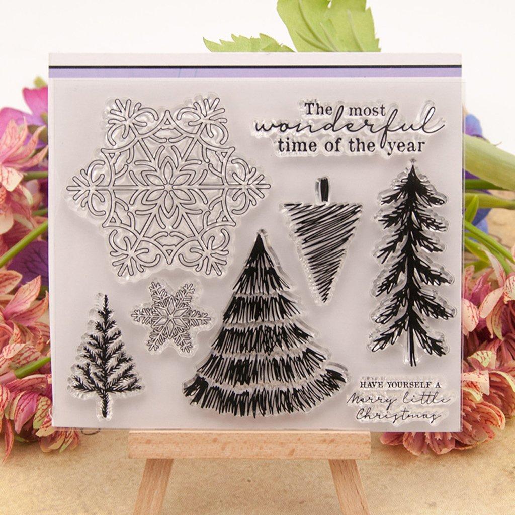 Kimruida Snowflake DIY Silicone Clear Stamp Cling Seal Scrapbook Embossing Album Decor