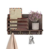 LIBWYS Wall Mounted Mail Holder w/4 Double Key Hooks Deals