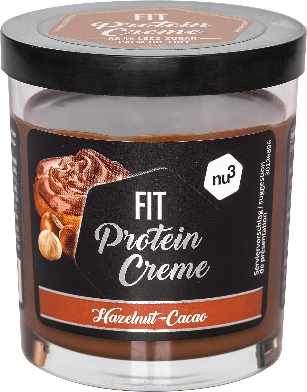 Fit Protein Crema Fitness - 200g crema de chocolate y avellanas sin azúcar - Sin aceite de palma ni gluten - 90% menos azúcar - 21% de proteína - ...