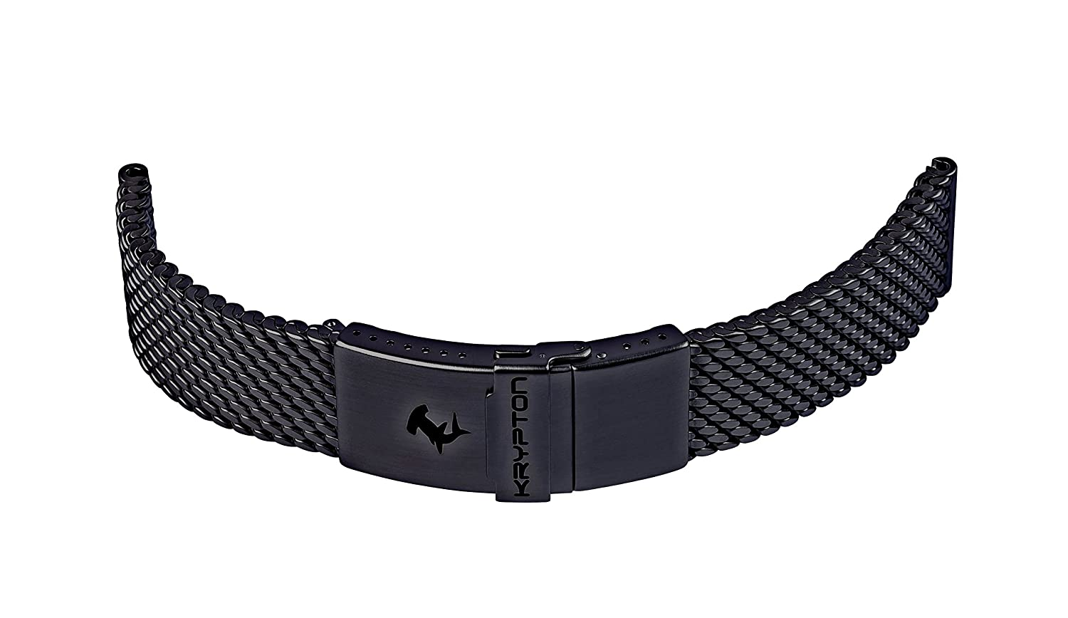 KRYPTON Uhrenarmband Milanaise DLC 22mm