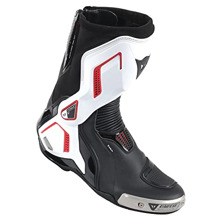 fcf848c58 Amazon.com  Dainese Torque Out Air D1 Mens Motorcycle Boots Black White Lava  Red 44 Euro 11 USA  Automotive