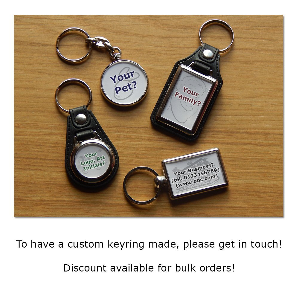 LAND ROVER DISCOVERY 4x4 Car Premium Koolart Leather and Chrome Keyring Choose a Colour! Silver