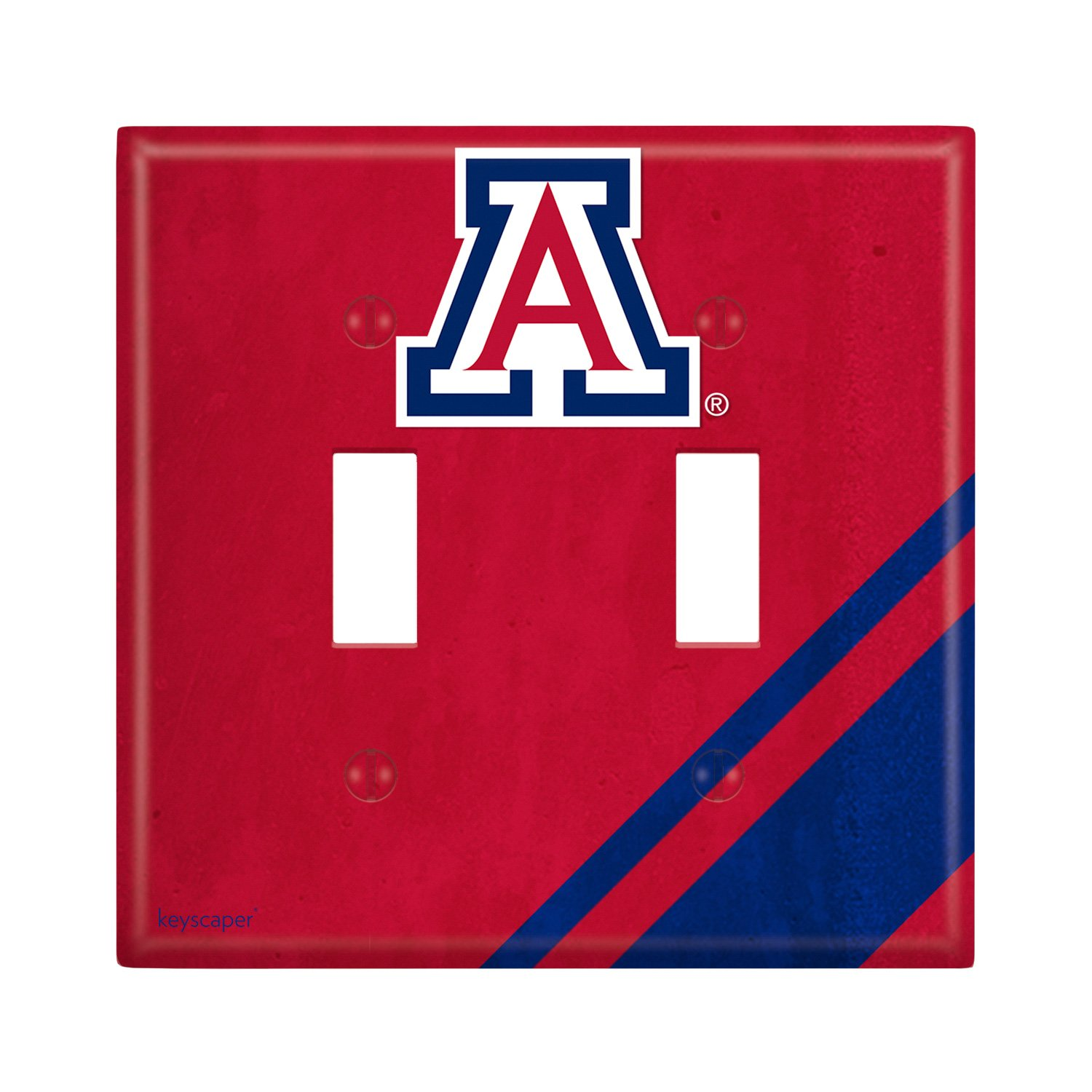 Keyscaper Arizona Wildcats Double Toggle Light Switch Cover NCAA