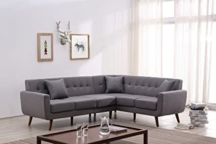 Amazon.com: Container Furniture Direct S00125-R Barnet Sectional ...