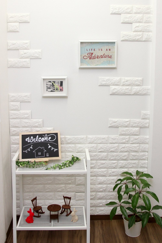 開店記念セール 発泡スチロールレンガ立体壁紙 6枚セット
