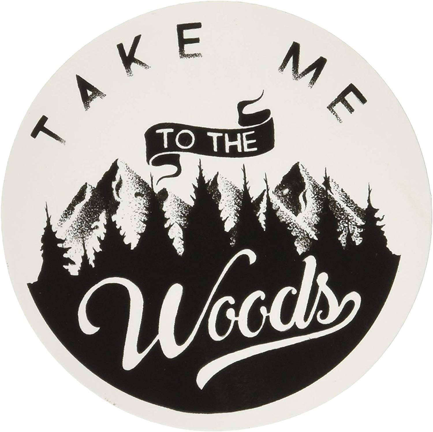Sticker Art Aesthetic Vinyl Stickers | Outdoor Wilderness Camping Travel Hiking Nature Colorado Snow Mountain Woods Moon| Large Waterproof Decal for HydroFlask Water Bottle Laptop Car Bumper