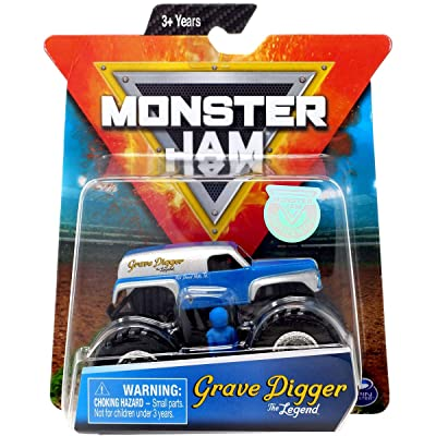 MJ Monster Jam Grave Digger The Legend 1:64 Scale with Figure: Toys & Games