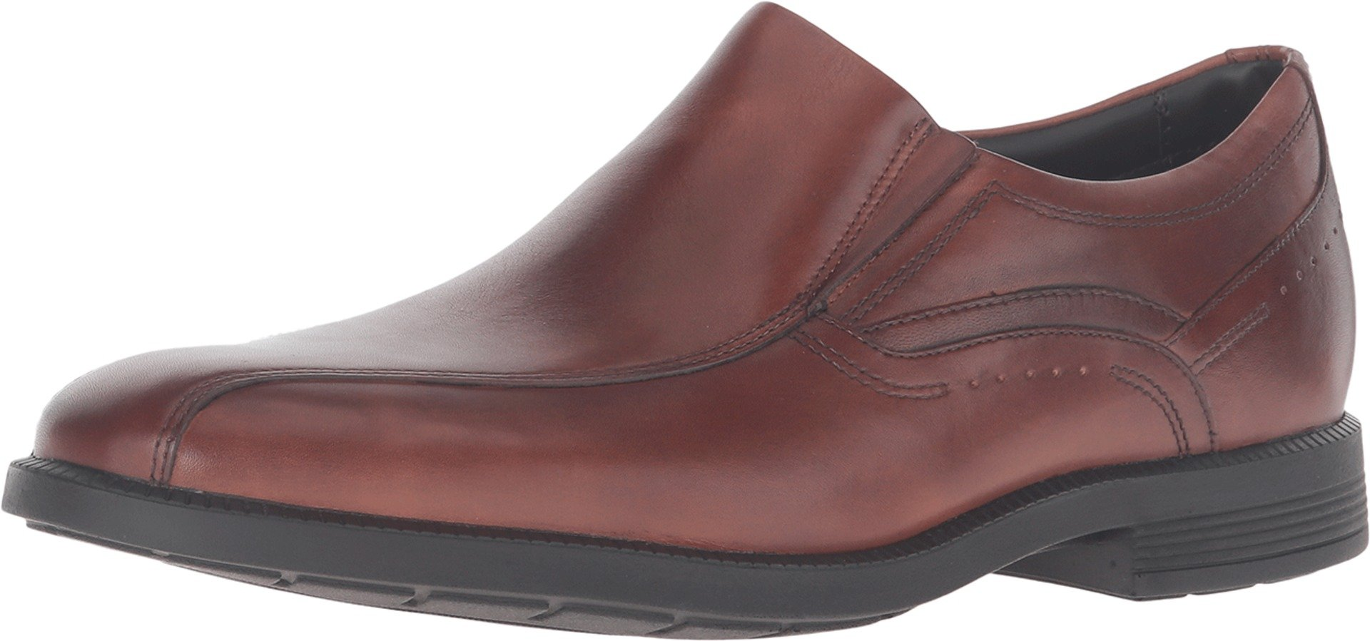 Rockport Men's Dressports Business Bike Toe Slip On,New Brown Leather,US 15 M by Rockport