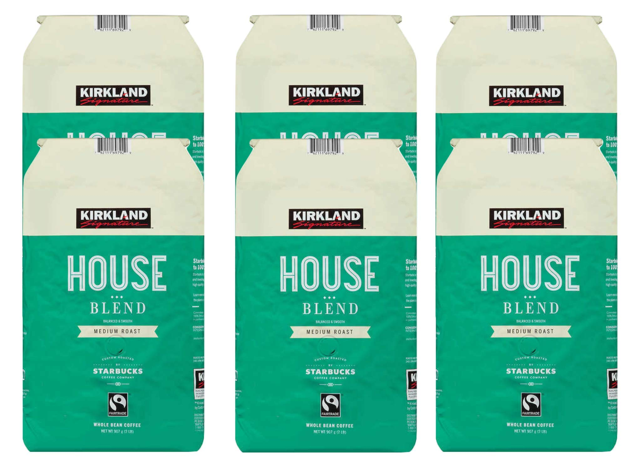 Kirkland Signature House Blend Coffee, 2 lbs(pack of 6) by Dealmor (Image #1)