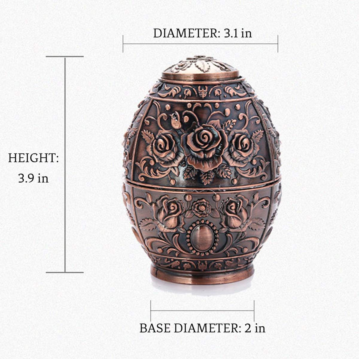 DABENXIONG Automatically Retractable Egg Shaped Toothpick Holder Decorative Metal Toothpick Dispenser Pop Up Storage Organizer Container for Home Restaurant Decoration