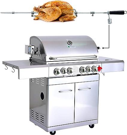 Plancha accessoire grille pour barbecue 4+1 brûleurs