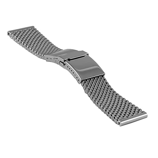 933813ecc Staib milanaise/mesh Watch Strap Deluxe, Diver Buckle, Length Adjustment, W  24