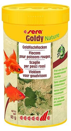 Sera Goldy Nature - El Copo Natural Forro para pequeños Peces de Agua fría sin Color y conservantes: Amazon.es: Productos para mascotas