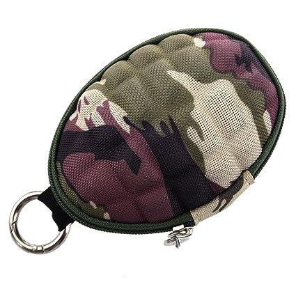 SODIAL Tipo de granada! Estuche de llaves y Monedas de camuflaje Granada de pato / Monedero / Estuche / Estuche tipo mosqueton Con seis ganchos ...