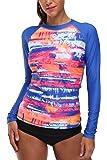 Camiseta de natación para mujer de CharmLeaks, camiseta de neopreno de manga larga, camiseta de neón con protección UV (UPF 50 +)