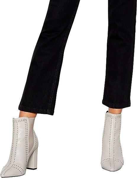 560f6608e66 Debenhams Faith Womens Grey Studded  Beale  Block Heel Chelsea Boots 5   Amazon.co.uk  Shoes   Bags