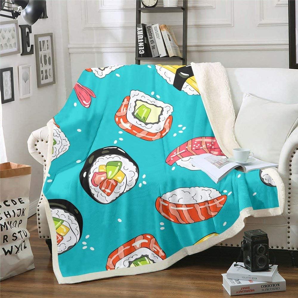 Sushi Throw Blanket 87
