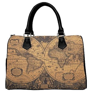 D story custom handbag vintage world map handbag tote bag shoulder d story custom handbag vintage world map handbag tote bag shoulder bag for gumiabroncs Image collections