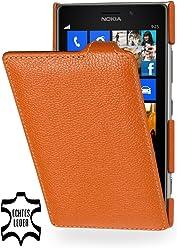 StilGut UltraSlim Case, custodia in vera pelle per Nokia Lumia 925, arancione