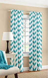 Teal Chevron Panel Pair   Two Panels 84 By Mainstays