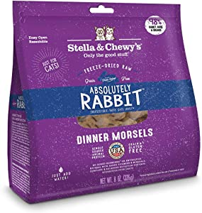 Stella & Chewy's Freeze-Dried Raw Absolutely Rabbit Dinner Morsels Grain-Free Cat Food, 8 oz bag