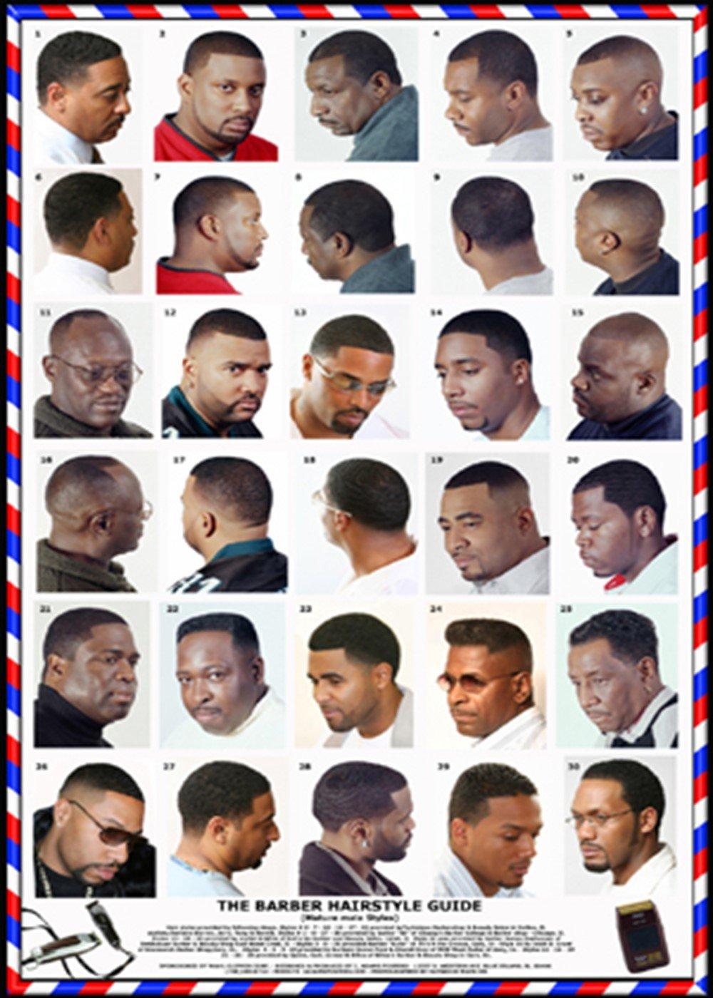 Black Men Barber Guide Basic Instruction Manual