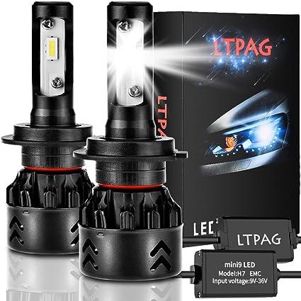LTPAG Bombilla H7 LED Coche, 2pcs 72W 12000LM Lampara H7 LED 12V ...