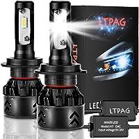 LTPAG Bombilla H7 LED Coche, 2pcs 72W 12000LM