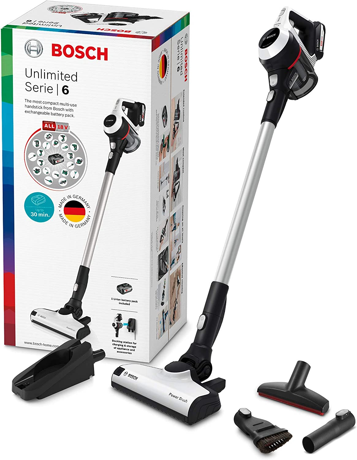 Bosch Unlimited Serie 6 BCS611AM - Aspirador escoba sin cable ...