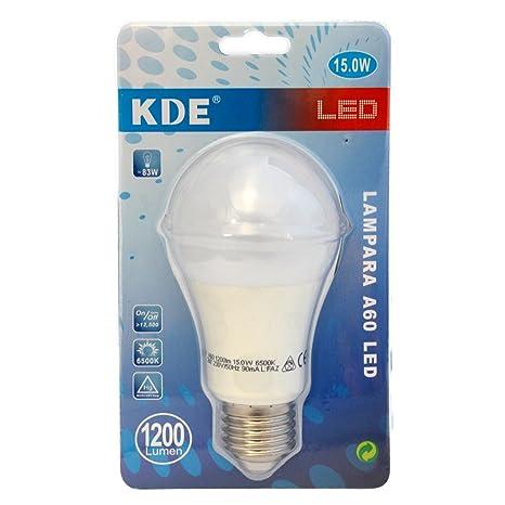 KDE Bombilla LED Globo Blanca E27 15W 1200 LM